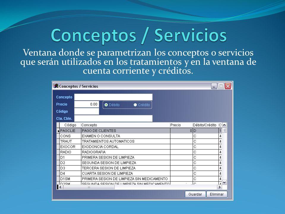 Conceptos / Servicios