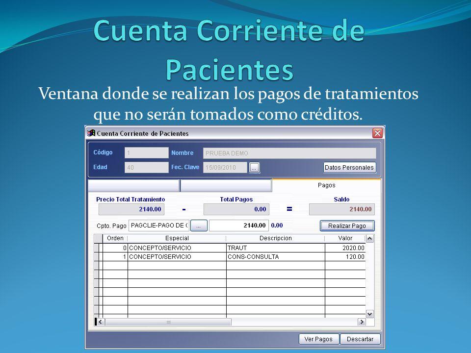 Cuenta Corriente de Pacientes