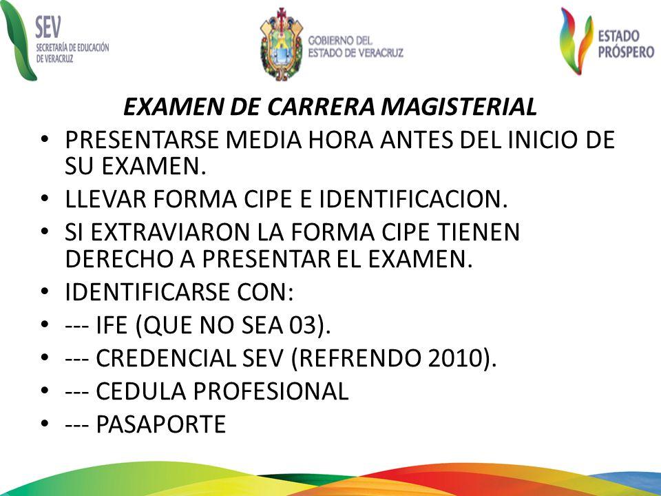 EXAMEN DE CARRERA MAGISTERIAL