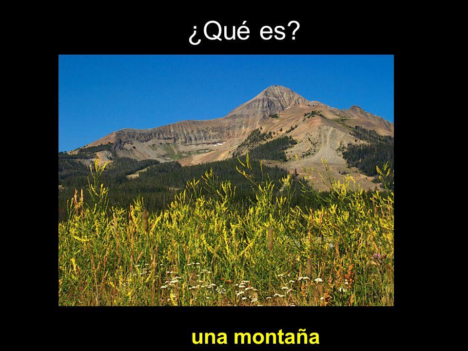 ¿Qué es una montaña