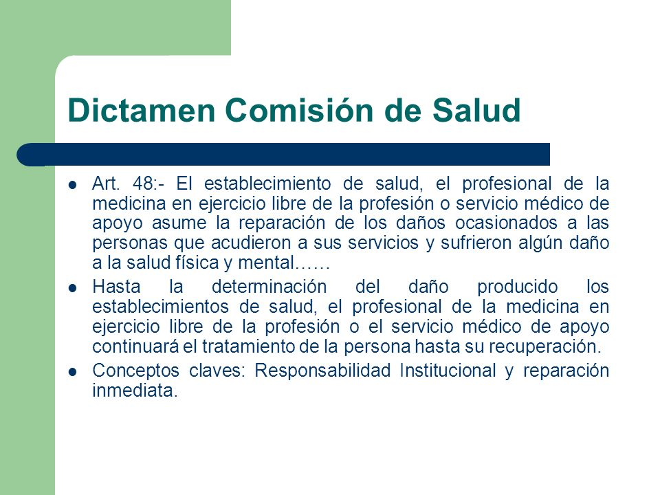 Dictamen Comisión de Salud