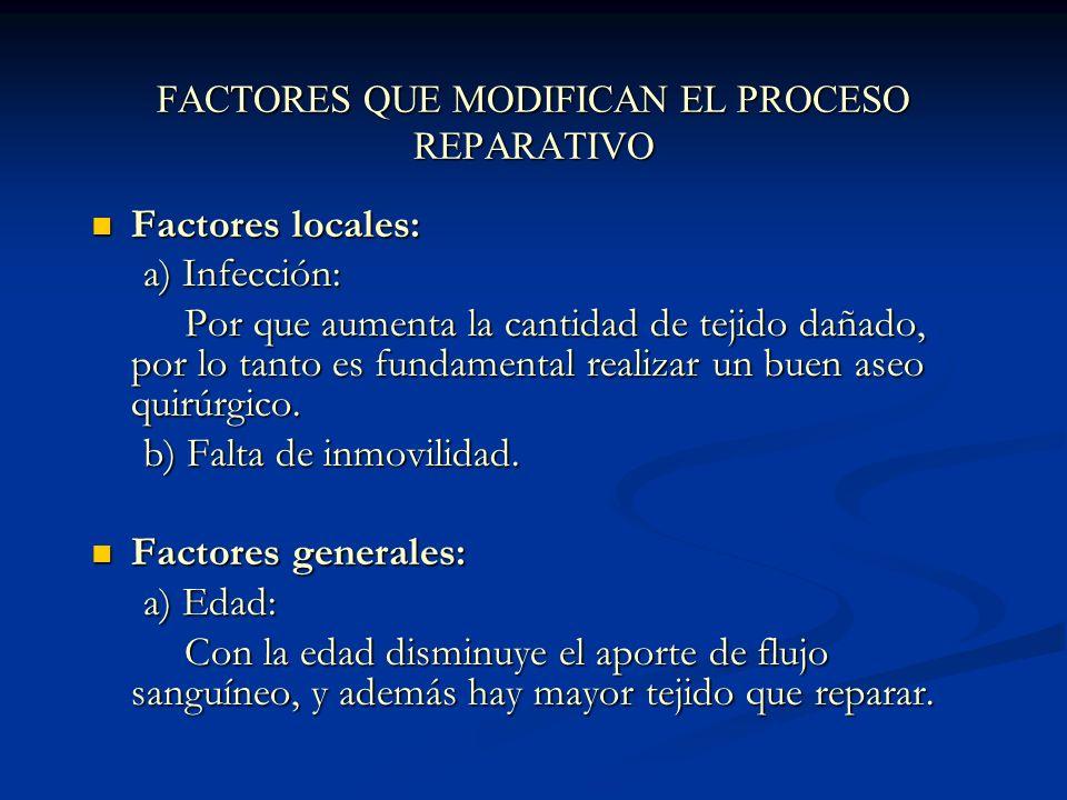 FACTORES QUE MODIFICAN EL PROCESO REPARATIVO