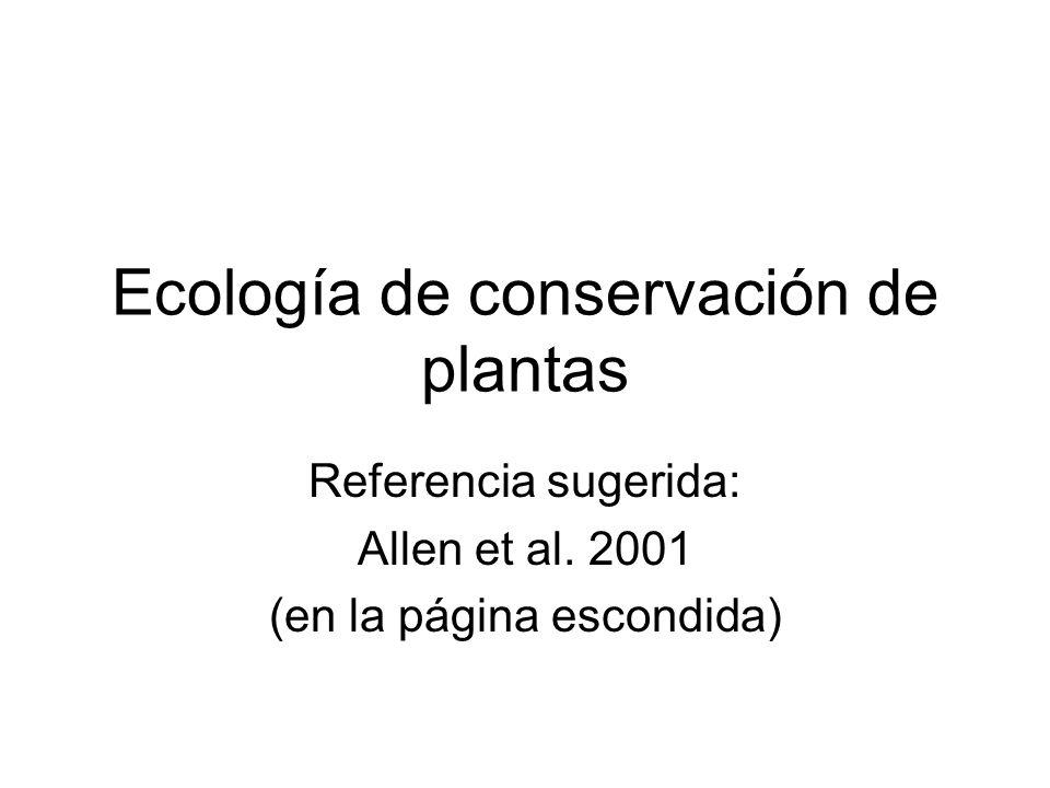 Ecología de conservación de plantas