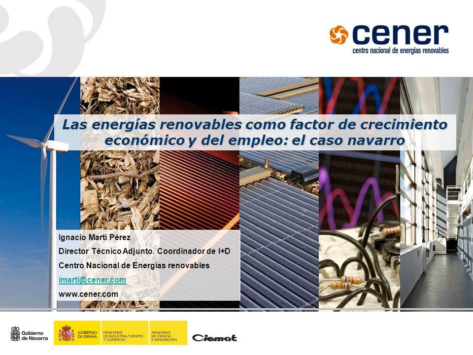 Las energías renovables como factor de crecimiento económico y del empleo: el caso navarro