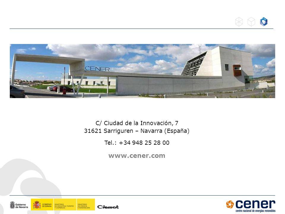www.cener.com C/ Ciudad de la Innovación, 7