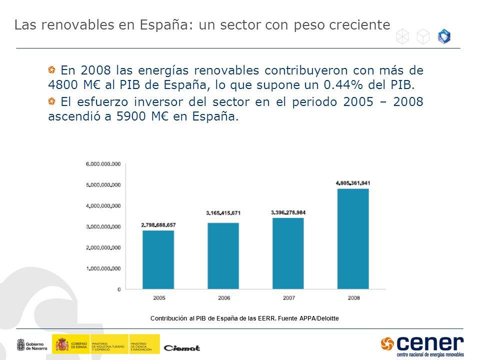 Las renovables en España: un sector con peso creciente