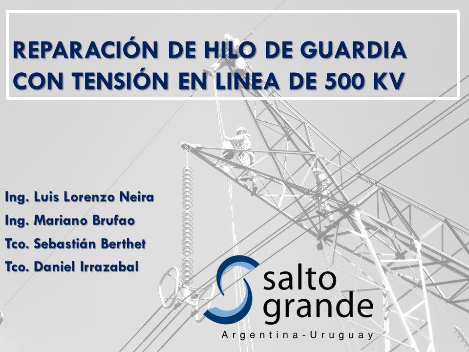 REPARACIÓN DE HILO DE GUARDIA CON TENSIÓN EN LINEA DE 500 KV