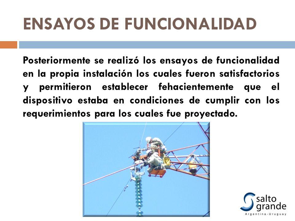 ENSAYOS DE FUNCIONALIDAD