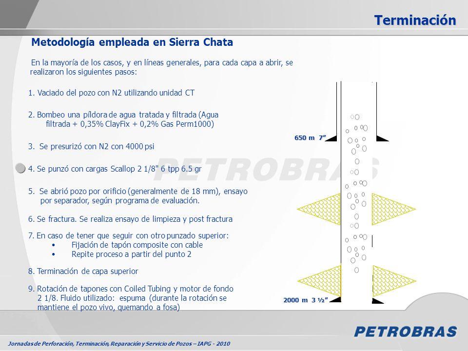 Terminación Metodología empleada en Sierra Chata