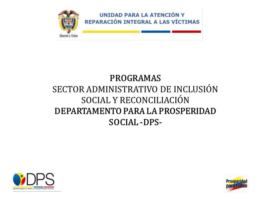 SECTOR ADMINISTRATIVO DE INCLUSIÓN SOCIAL Y RECONCILIACIÓN