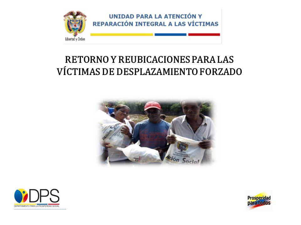 RETORNO Y REUBICACIONES PARA LAS VÍCTIMAS DE DESPLAZAMIENTO FORZADO