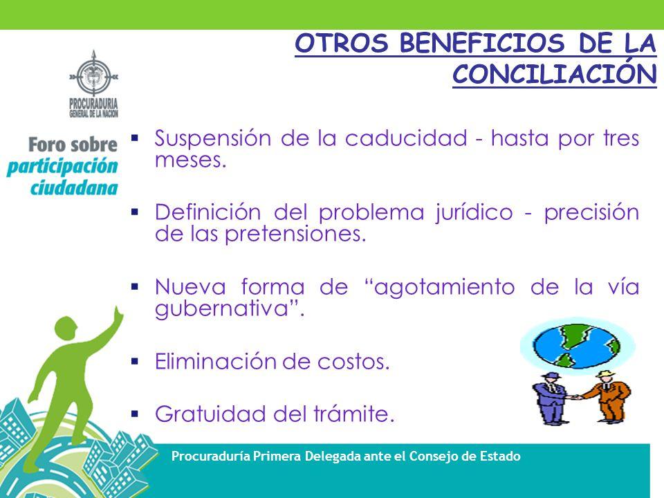 OTROS BENEFICIOS DE LA CONCILIACIÓN
