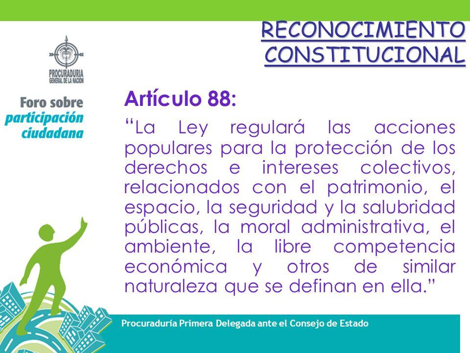 RECONOCIMIENTO CONSTITUCIONAL