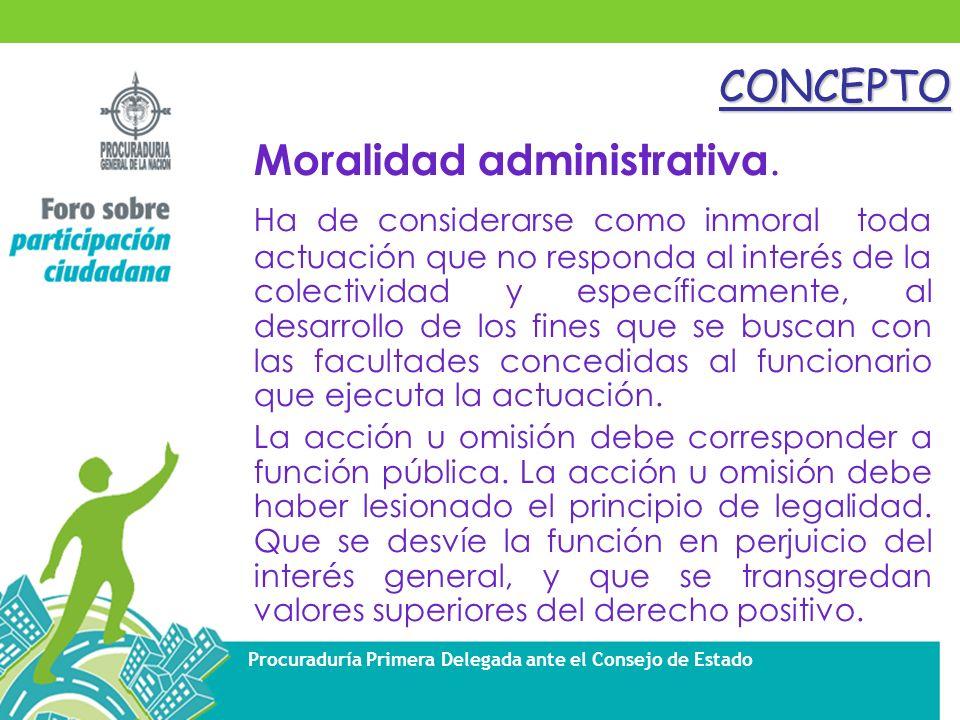 Moralidad administrativa.