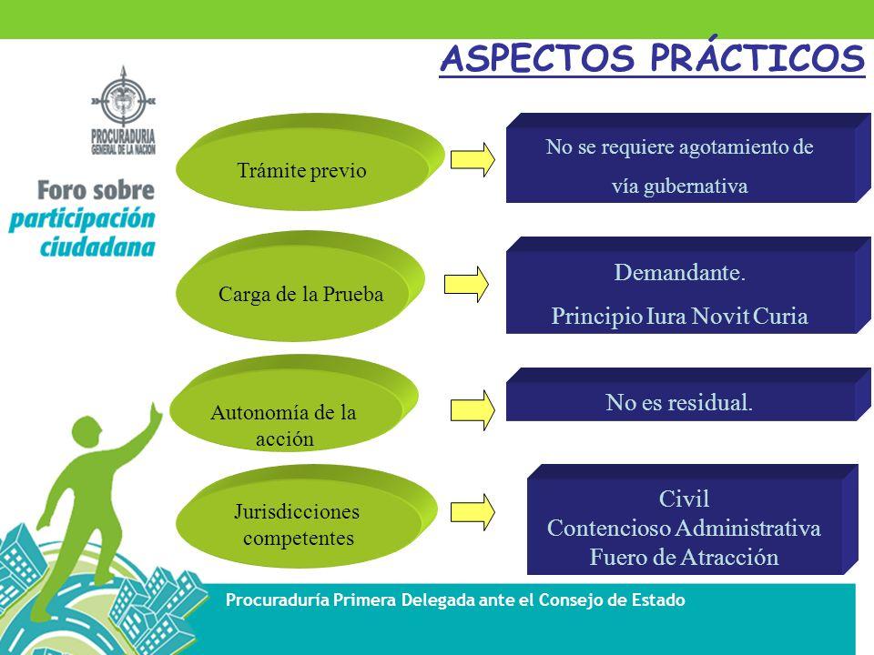 ASPECTOS PRÁCTICOS Demandante. Principio Iura Novit Curia