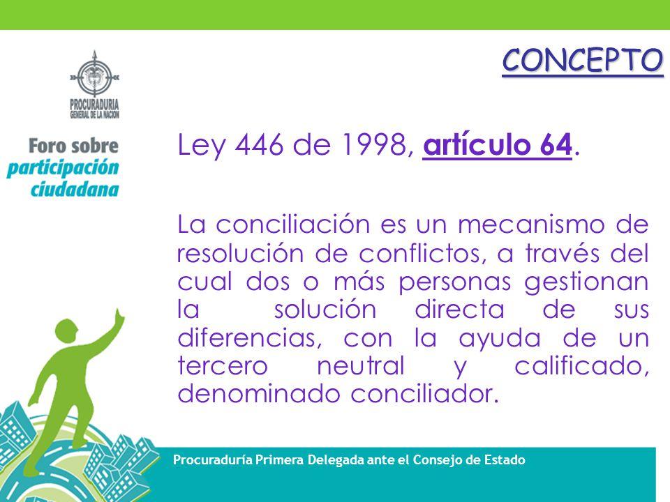 CONCEPTO Ley 446 de 1998, artículo 64.