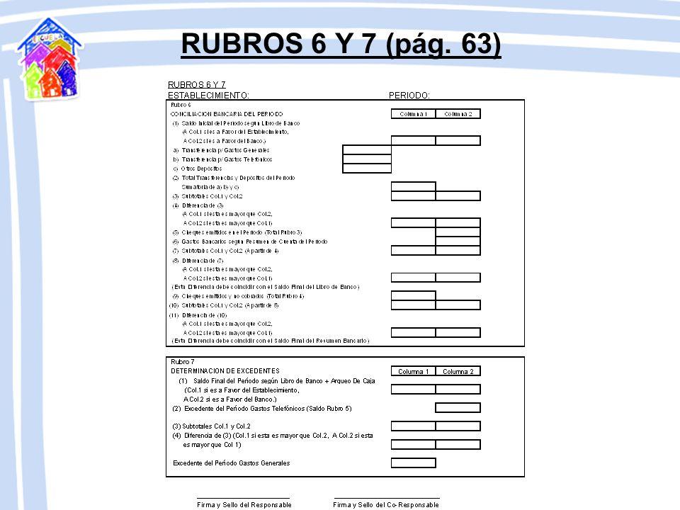 RUBROS 6 Y 7 (pág. 63)