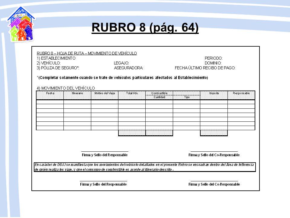 RUBRO 8 (pág. 64)