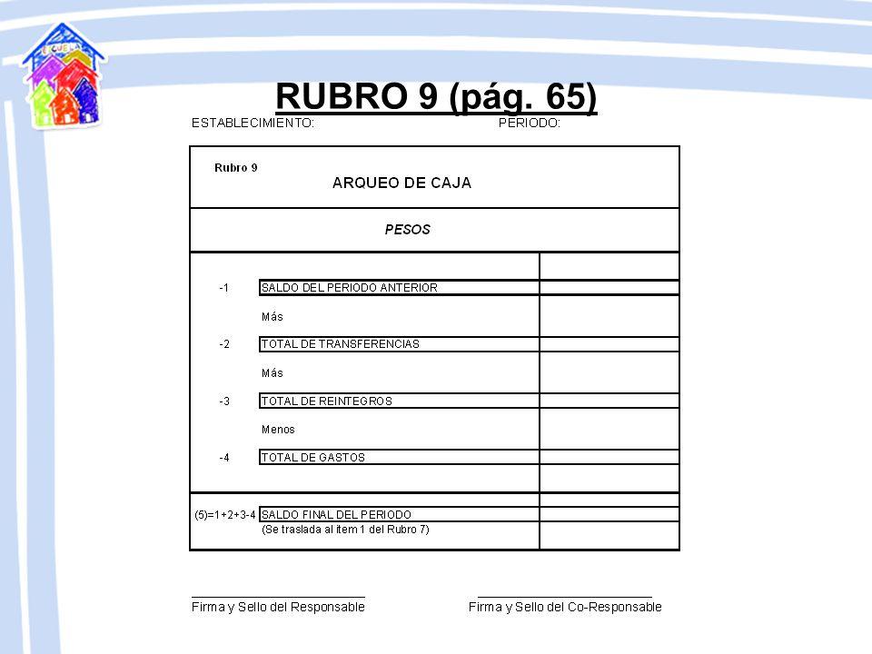 RUBRO 9 (pág. 65)
