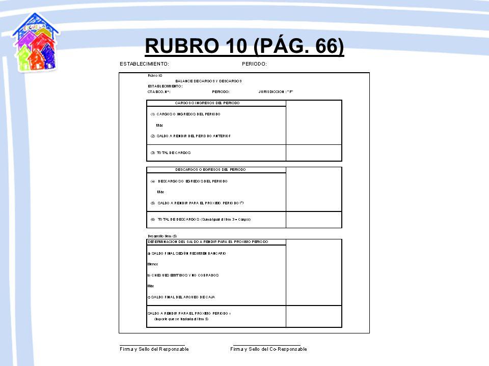 RUBRO 10 (PÁG. 66)