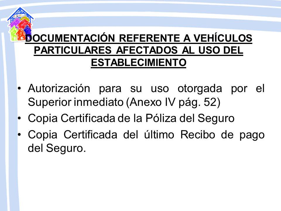 Copia Certificada de la Póliza del Seguro