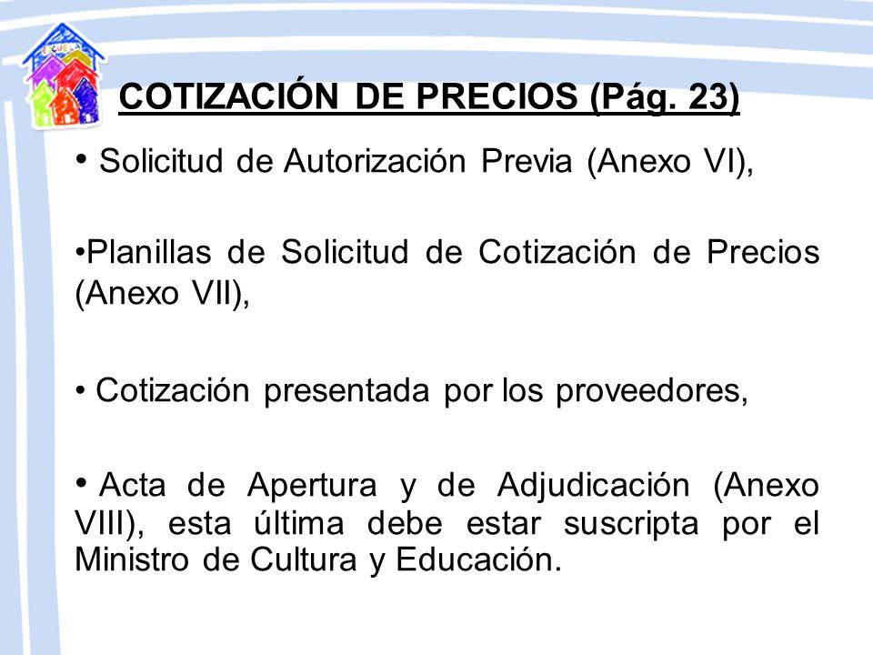 COTIZACIÓN DE PRECIOS (Pág. 23)