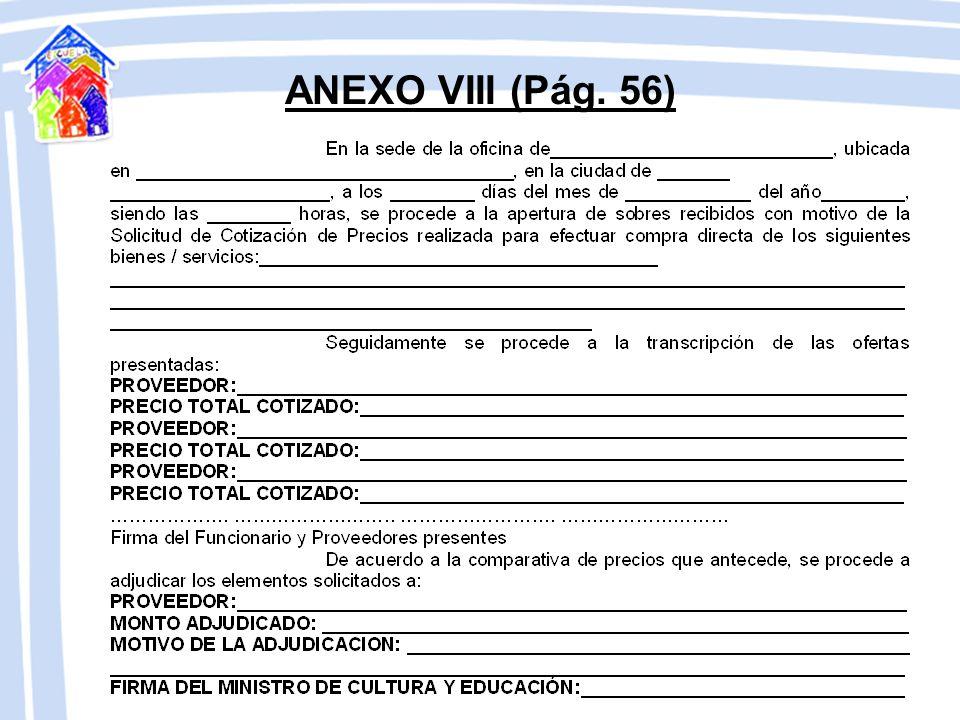 ANEXO VIII (Pág. 56)