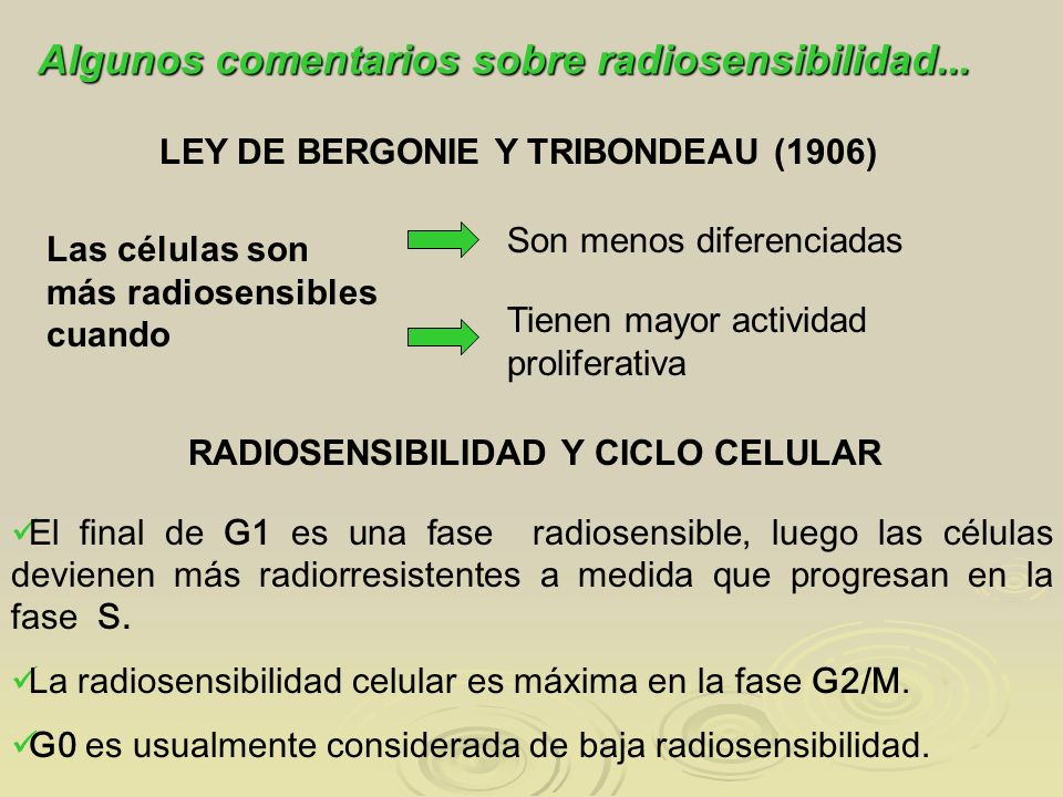 LEY DE BERGONIE Y TRIBONDEAU (1906)