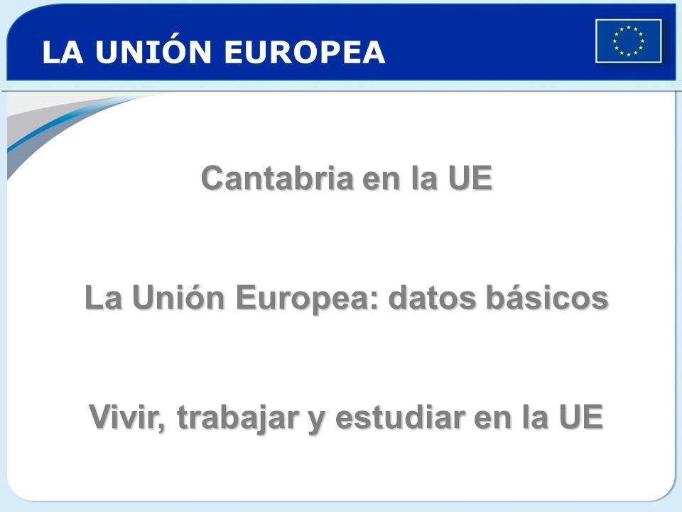 La Unión Europea: datos básicos Vivir, trabajar y estudiar en la UE