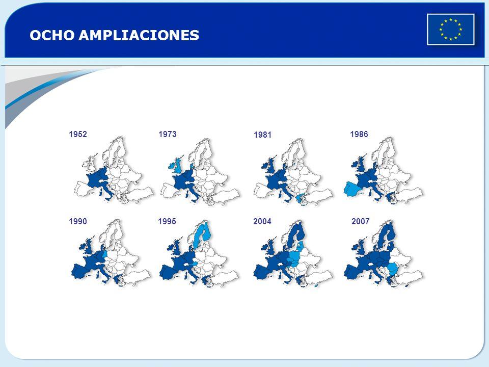 OCHO AMPLIACIONES 1952 1973 1981 1986 1990 1995 2004 2007