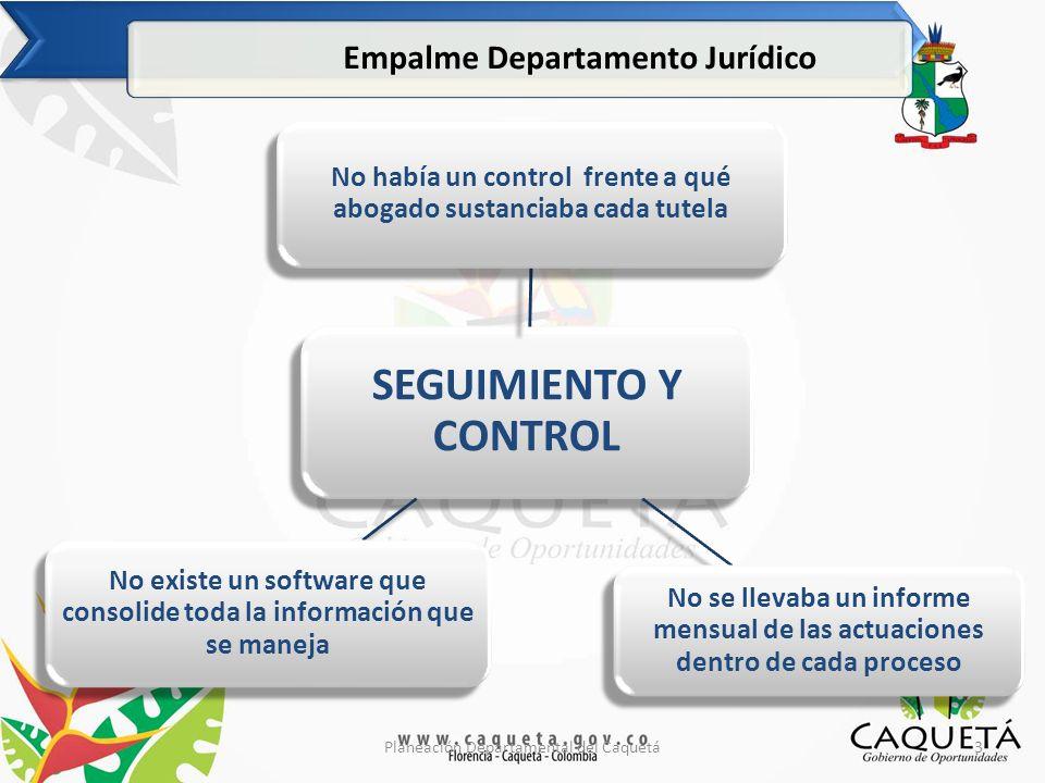 SEGUIMIENTO Y CONTROL Empalme Departamento Jurídico