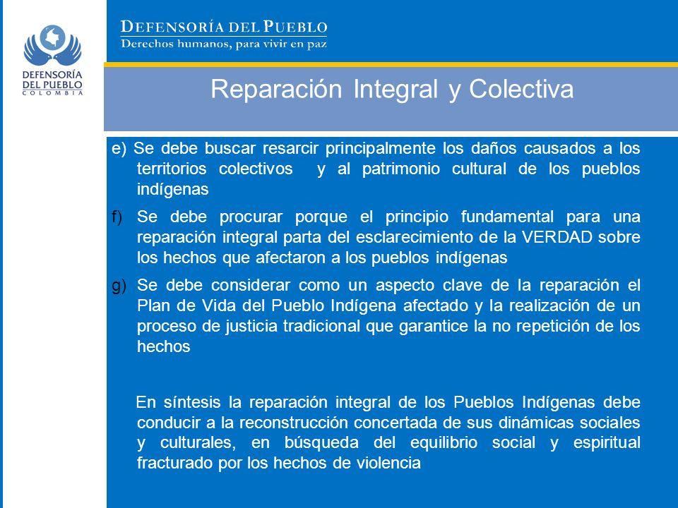 Reparación Integral y Colectiva