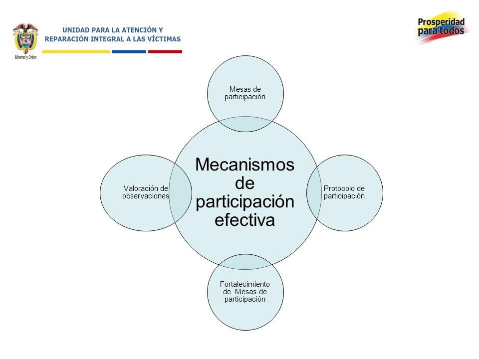 Mecanismos de participación efectiva