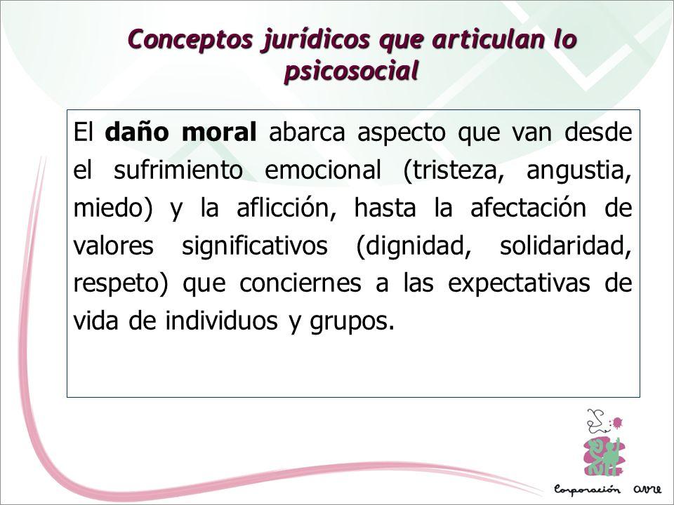 Conceptos jurídicos que articulan lo psicosocial