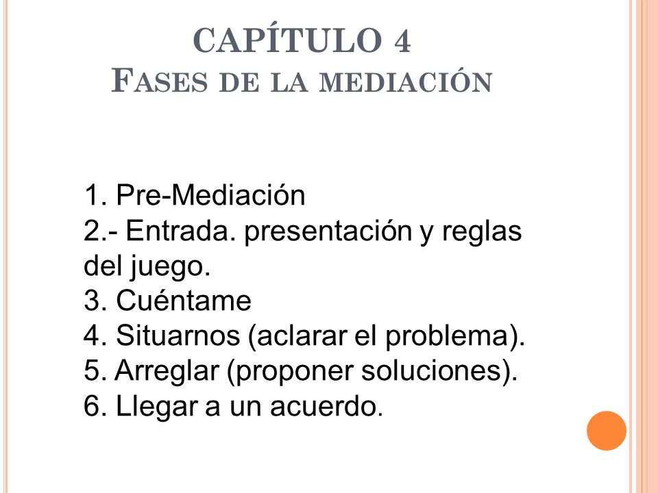 CAPÍTULO 4 Fases de la mediación