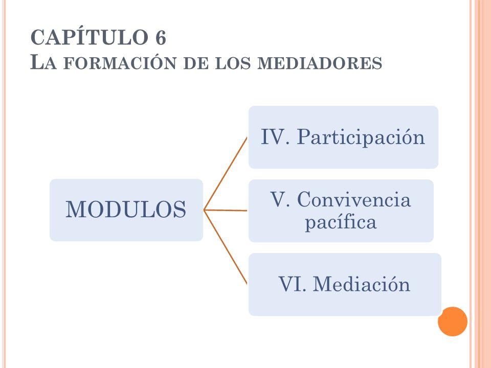 CAPÍTULO 6 La formación de los mediadores