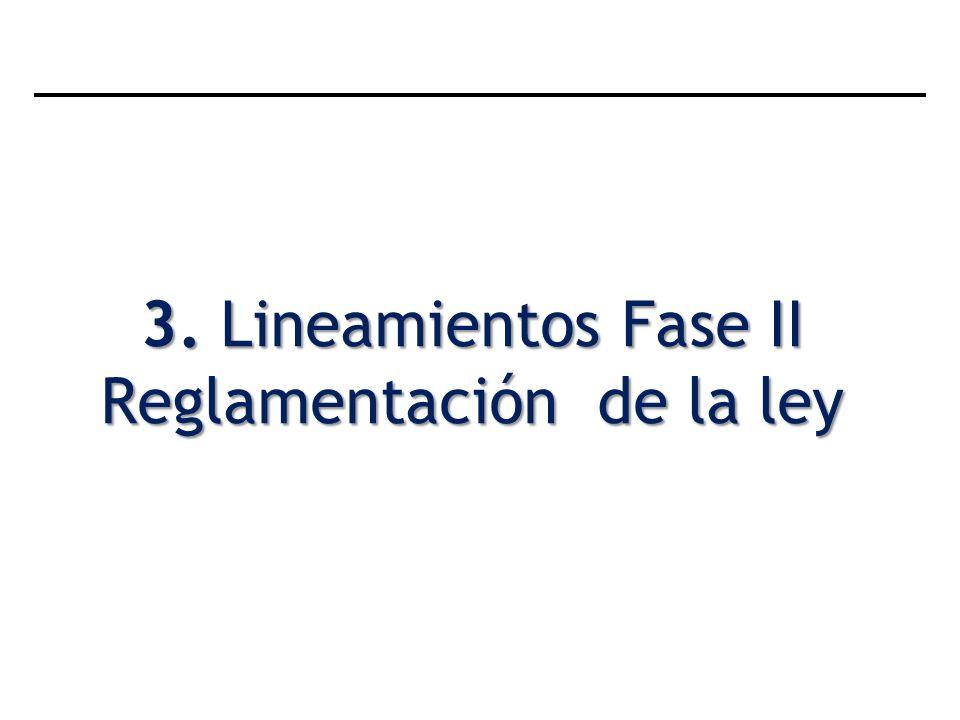 3. Lineamientos Fase II Reglamentación de la ley