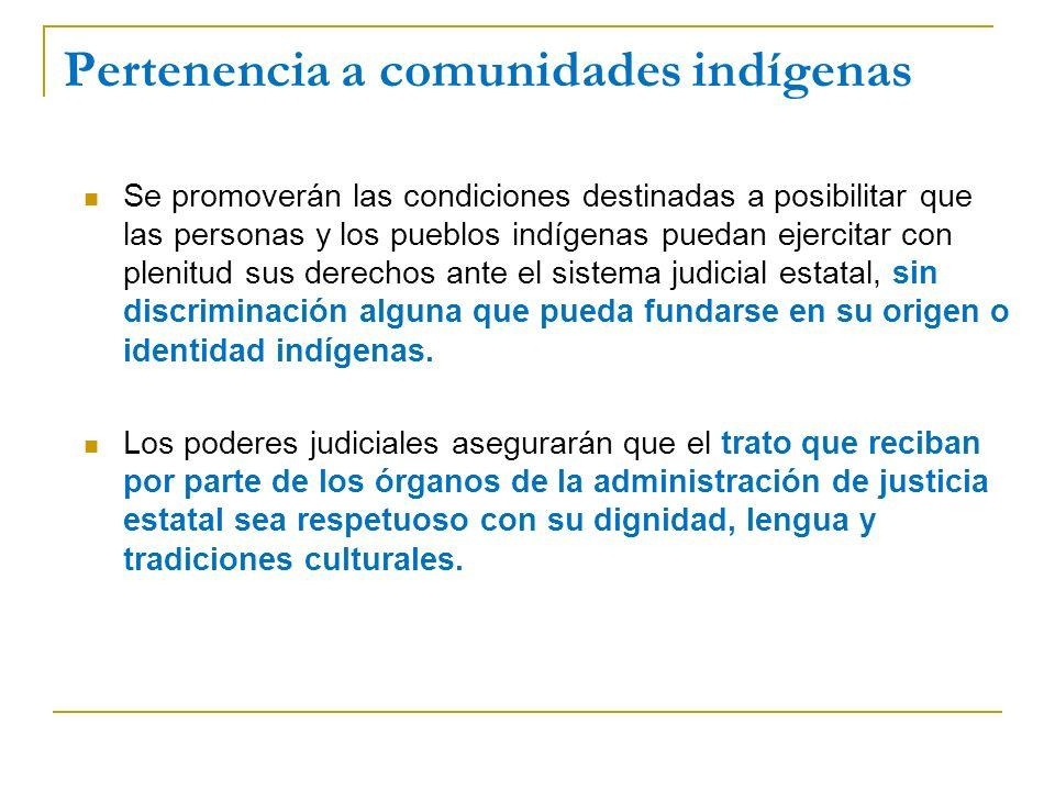 Pertenencia a comunidades indígenas