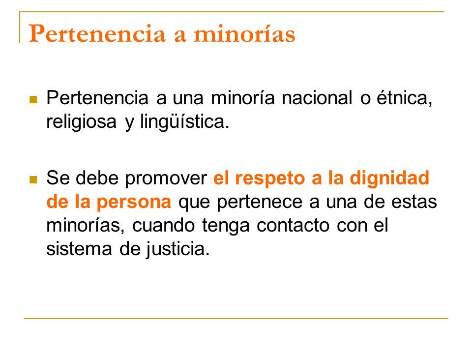 Pertenencia a minorías