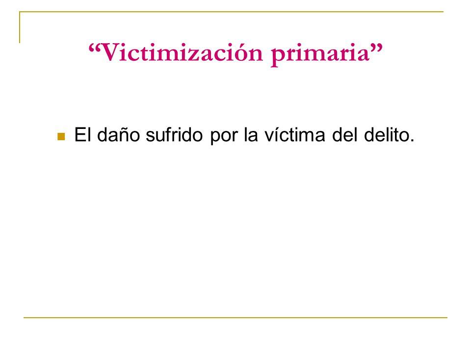 Victimización primaria