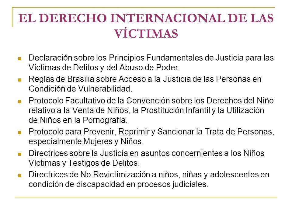 EL DERECHO INTERNACIONAL DE LAS VÍCTIMAS