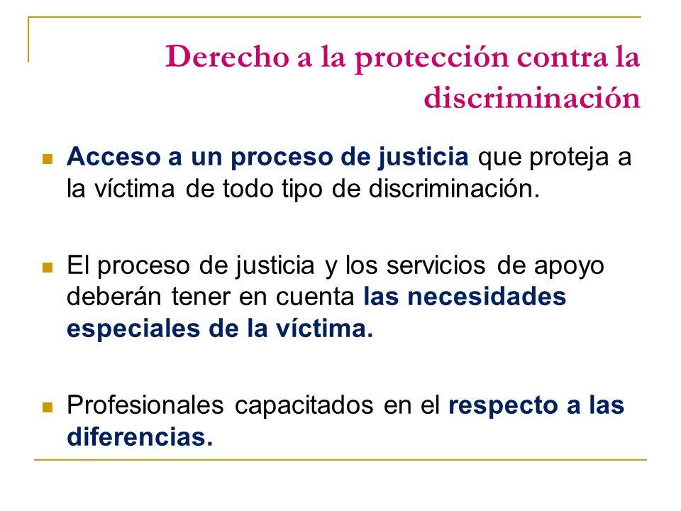 Derecho a la protección contra la discriminación