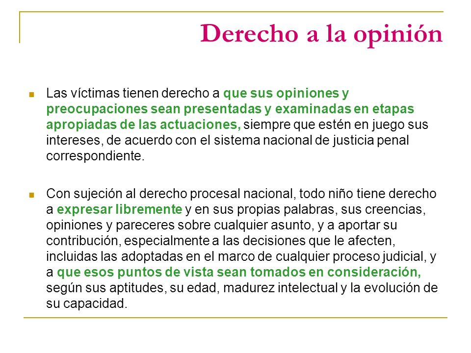 Derecho a la opinión