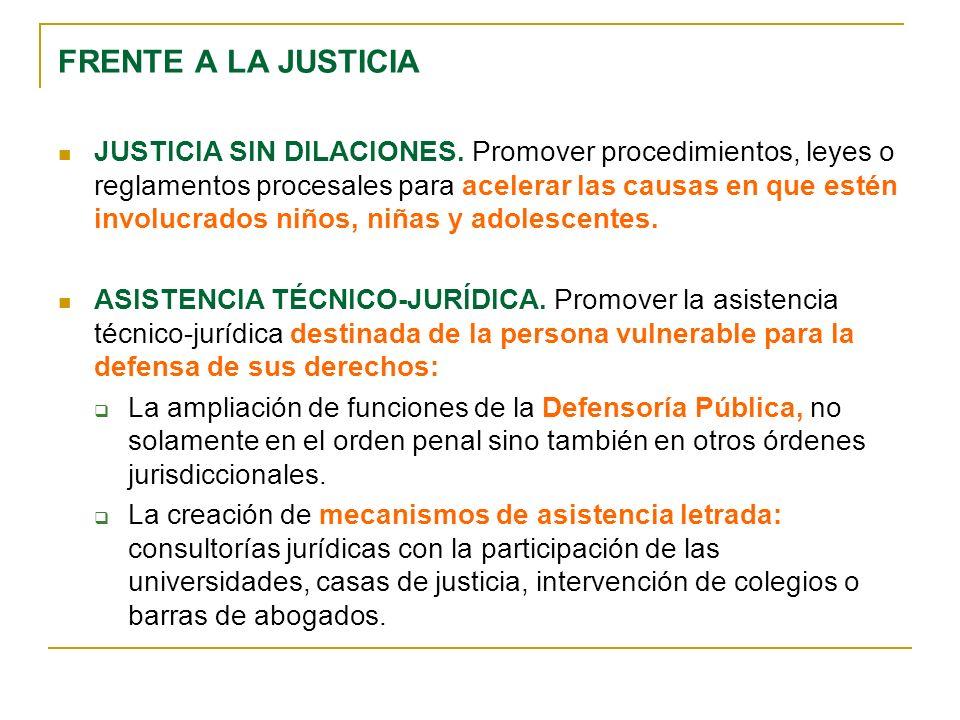 FRENTE A LA JUSTICIA