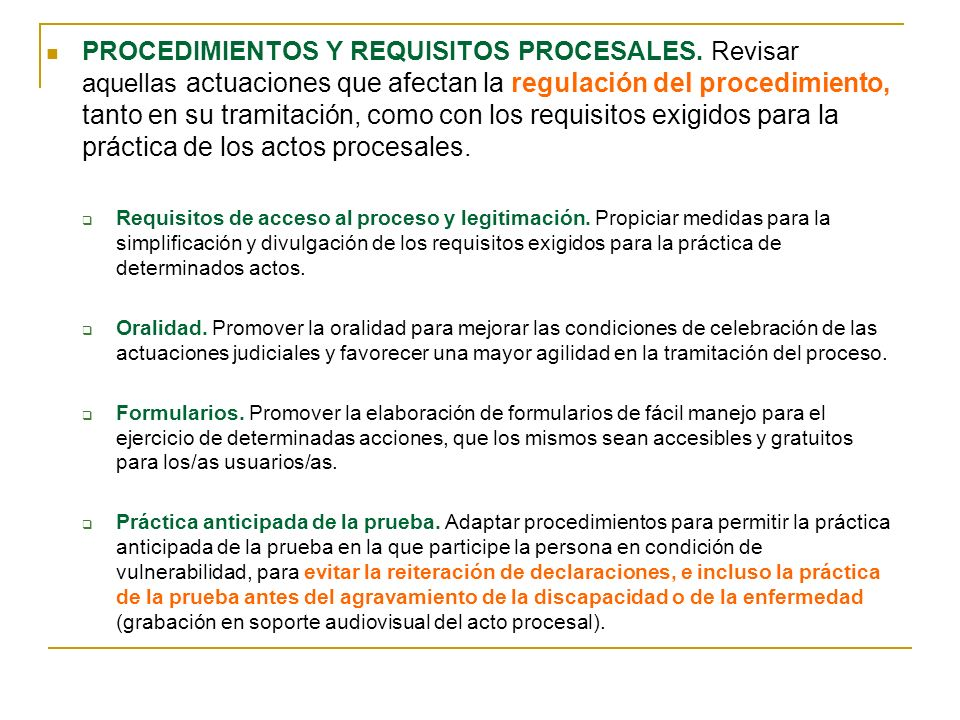 PROCEDIMIENTOS Y REQUISITOS PROCESALES