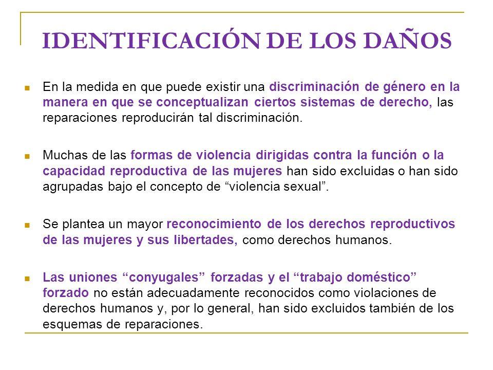 IDENTIFICACIÓN DE LOS DAÑOS