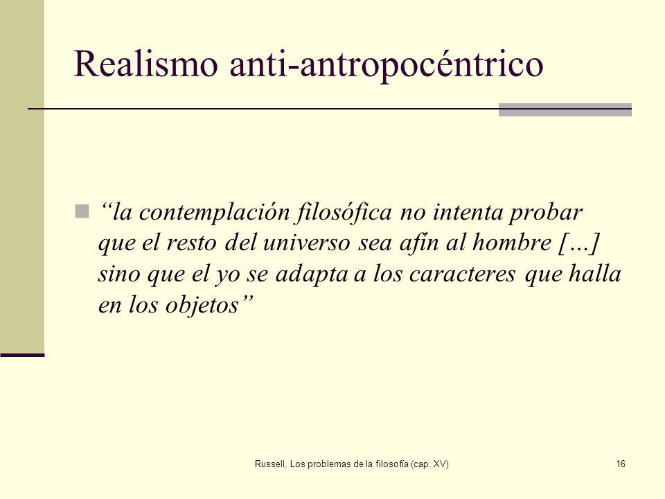 Realismo anti-antropocéntrico