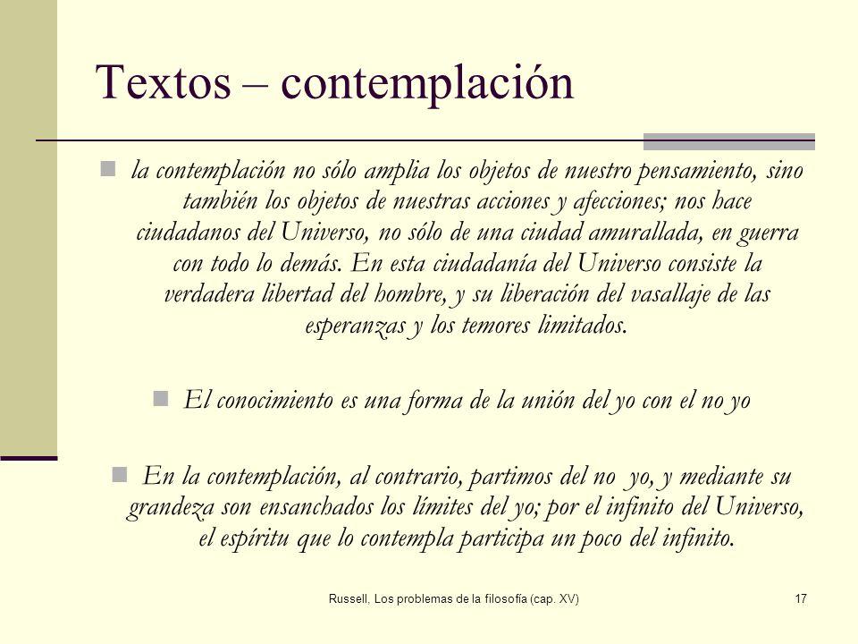 Textos – contemplación