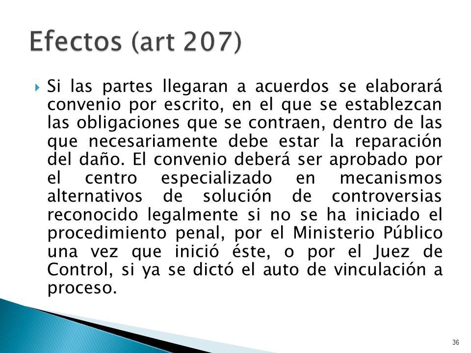 Efectos (art 207)