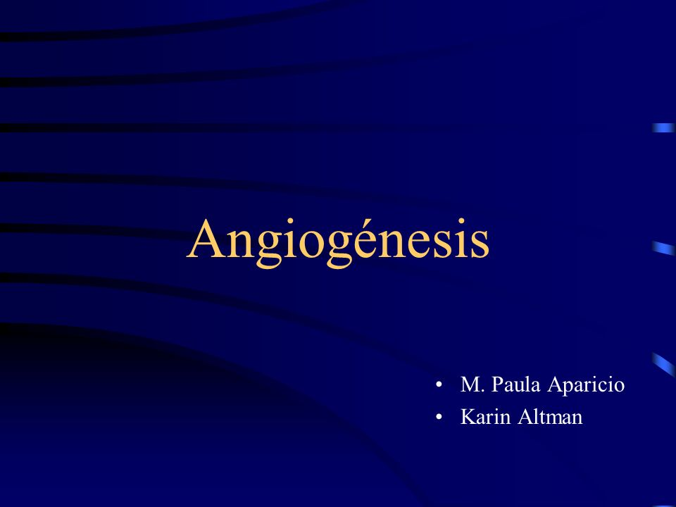 Angiogénesis M. Paula Aparicio Karin Altman